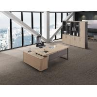 Simple Pattern Melamine Office Furniture Light Color Series Eco Friendly Manufactures