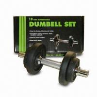 10kg Dumbell Set with Threaded Chrome Bar Manufactures
