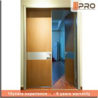 Break Resistance MDF Interior Doors Eco Friendly With Handles And Hinge