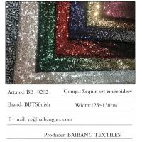 Spot 3mm banquet evening dress performance stage clothing gradient two-color beads two-color stitching sequin embroidery Manufactures