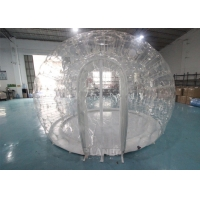 0.8mm PVC 4m Dia Transparent Igloo Clear Bubble Inflatable Dome Tent For Camping / Party Manufactures