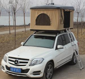 Fiberglass Hard Shell Pop Up Tent , Truck Bed Hard Top Tent With Sponge Mat Manufactures