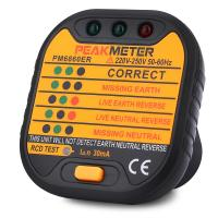 110 / 230V Electric Socket Tester Automatic Electricity Diagnostic Detector Manufactures
