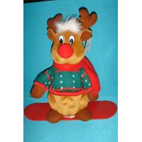 Buy cheap Lovely Dressed Reindeer Soft Velboa as Personalised Christmas Gifts with ODM from wholesalers