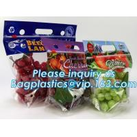 reusable clear printed zippered storage slider bag for vegetables and fruits, recyclable fresh fruit packaging k w Manufactures