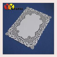 Buy cheap Wedding Party Favors Simple Wedding Invitation Cards , White Flower Lace from wholesalers