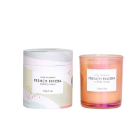 Rainbow Finish Glass Jar Private Label Scented Candles Manufactures