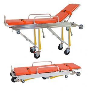 Ambulance Folding Patient Transport Stretchers Aluminum Loading With IV Pole Manufactures