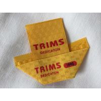 Center / Mitre Fold Taffeta Woven Labels , Elegant Embroidered Sewing Labels Manufactures
