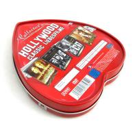 Heart shape custom tin boxes with insert inside Manufactures