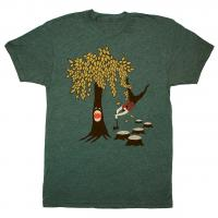 Unisex Custom Screen Printed T Shirts Funny Gaming Woodland Flannel Nature Beard Tee Manufactures