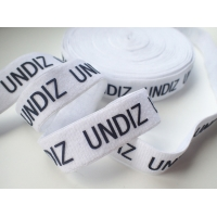 Printed Silicone Logo On Elastic Webbing Tape Customized Design Manufactures