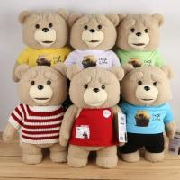 Lovely Ted Bear Baby Plush Toys Red Brown Polyester Accept OEM ODM Manufactures