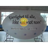 White Oval ( ellipse shape ) Filled Helium Gas Balloons for Parade, Inflate Ground Balloon Manufactures