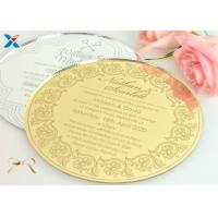 Buy cheap Round Shape Acrylic Gifts / Acrylic Wedding Invitation Cards With Different from wholesalers