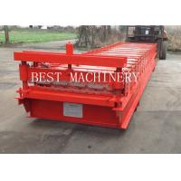 Buy cheap BV / SGS Roofing Sheet Roll Forming Machine Galvanized PPGI Corrugated Trapezoid from wholesalers