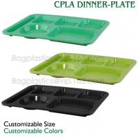 5 Compartment Lunch Box Disposable Plastic Food Container, biodegradable Fast Food Tray, disposable safety meat tray Manufactures