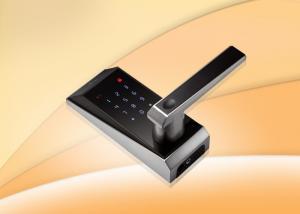 Mifare Zinc Alloy 30mm Weatherproof Thumb Finger Biometric Door Lock Manufactures