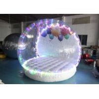 Human Size Hotel Inflatable Snow Globe Tent Christmas LED Lighting Manufactures