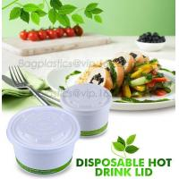 PLA compostable lids, BPI certificated compostable coffee cup lid made in China, Coffee cup with CPLA lid Manufactures