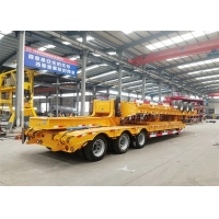 China 3 Axles 60T Gooseneck Low Bed Semi Trailer on sale