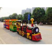 Colorful Painting Shopping Mall Train , FRP Material Trackless Train Ride Manufactures