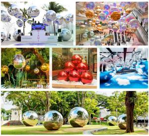 Mall Decoration Mini Reflective Mirror Disco Ball PVC Rainbow Colorful Big Inflatable Balls Mirror Manufactures