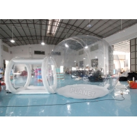 4mDia Transparent Clear Inflatable Dome Bubble Camping Tent With Airtight Tunnel Manufactures