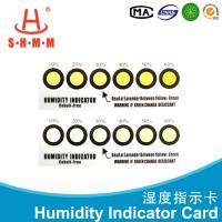 Six Dots Yellow To Green Humidity Indicating Cards For PCB Printed Circuit Board Manufactures