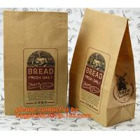 Customize 3 Side Visible Clear Window Offset Printing Bakery Bags, Customize V Bottom with Clear Window Food Grade Toast Manufactures