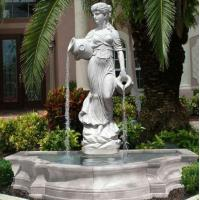 Stone carving statue fountain white marble sculpture water fountains ,stone carving supplier Manufactures