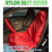 Universal Reusable Nylon Car Seat Cover custom logo for car front seat to keep car clean Water resistant UV Protection Manufactures