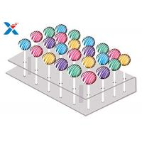 Quality 21 Holes Clear Acrylic Cake Pop Stand , Transparent Acrylic Lollipop Stand for sale