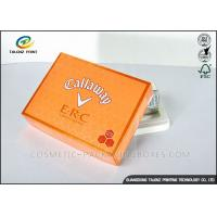 Foldable Orange Cardboard Gift Boxes For Clothes / Candy / Chocolate Manufactures