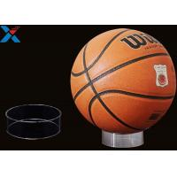 Round Acrylic Ball Display Stand , Basketball Football Sports Ball Display Rack Manufactures