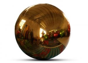 Giant Event Decoration PVC Floating Sphere Mirror Balloon Disco Shinny Inflatable Floating Mirror Ball For Christmas Manufactures