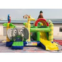 Safari World Jungle elephant Inflatable Bouncy Castle for kids Outdoor N Indoor Playground Fun Manufactures