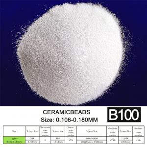 180um B100 Ceramic Beads For Car Wheel Hub Sandblasting Surface Treatment Manufactures