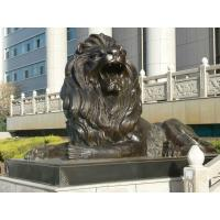 Large Outdoor sitting lions bronze sculpture ,customized bronze statues, China sculpture supplier Manufactures