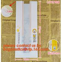 Professional Food Safe Opp Clear Window Paper Bags Offset Printing, OEM Block Bottom Bags Tin Tie White Paper bags with Manufactures