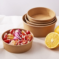 Quality Disposable Refrigerable 40oz Kraft Paper Soup Containers for sale