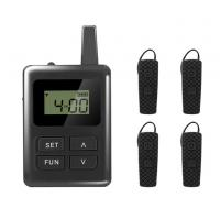 Digital Wireless Audio Tour Guide Equipment With Ear - Hook Mini Receiver Manufactures