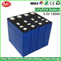 Electric forklift rechargeable lithium ion battery 3.2V 120Ah LiFePO4 battery cell Manufactures