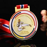 Wholesale cheap 3d  blank karate taekwondo marathon running medals and trophies sports Manufactures
