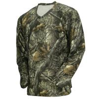 Wicking Long Sleeve Camouflage Hunting Suit Camo Fishing T Shirt 100% Poly Knit Grid Manufactures