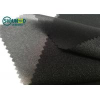 White / Black Polyester Plain Weave Woven Fusing Interlining For Garment Accessories Manufactures