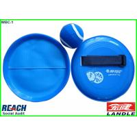 Promotional Sports Products With Velcro Tennis Ball , 18cm Velcro Catch Ball Racket Manufactures