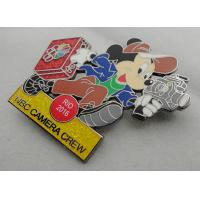 NBC Camera Crew Disney Pin Badge by Zinc Alloy, Synthetic Enamel, Black Nickel, Glitter Filled Manufactures