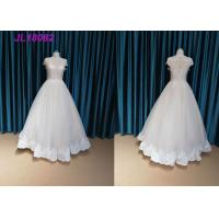 Fashion Cap Sleeves Bridal Ball Gowns With Crystal Long Floor Length OEM Supply Manufactures