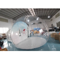 4m Inflatable Snow Globe Bubble Tent With Passage Way Background Manufactures